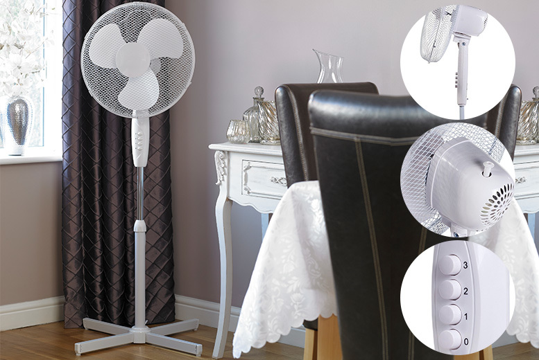 16″ Oscillating 3-speed Stand Fan for £14.00