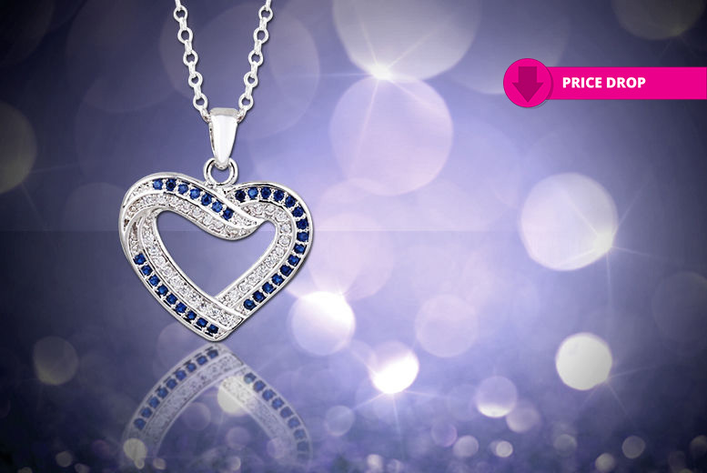 Crystal Heart Necklace for £7.00