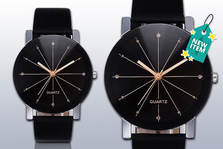 Crystal Meridian Leather Watch for £6.99