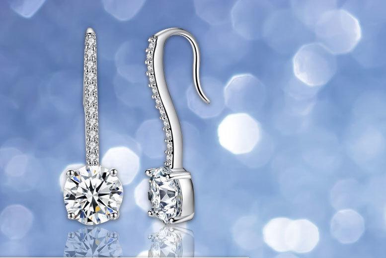 Simulated Sapphire Pendulum Earrings for £9.00