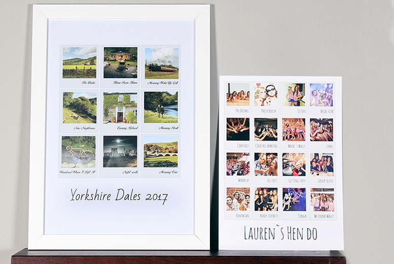 Polaroid Collage Print – 2 Sizes! from £2.99