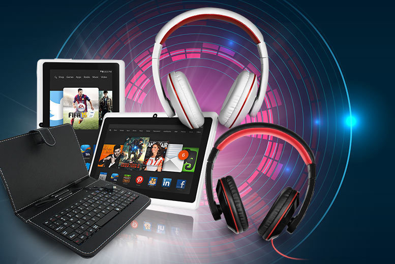 £39 instead of £139.99 (from D2D) for a 7-inch quad core Android smart tablet with a PU leather keyboard case and headphones - save 72%