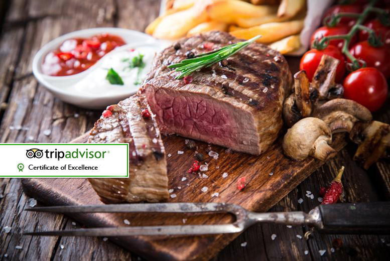 £29 for a steak dinner and a glass of wine for two people, £34 to upgrade to a bottle of wine to share at The Grill @ Amba Hotel, Marble Arch - save up to 52%