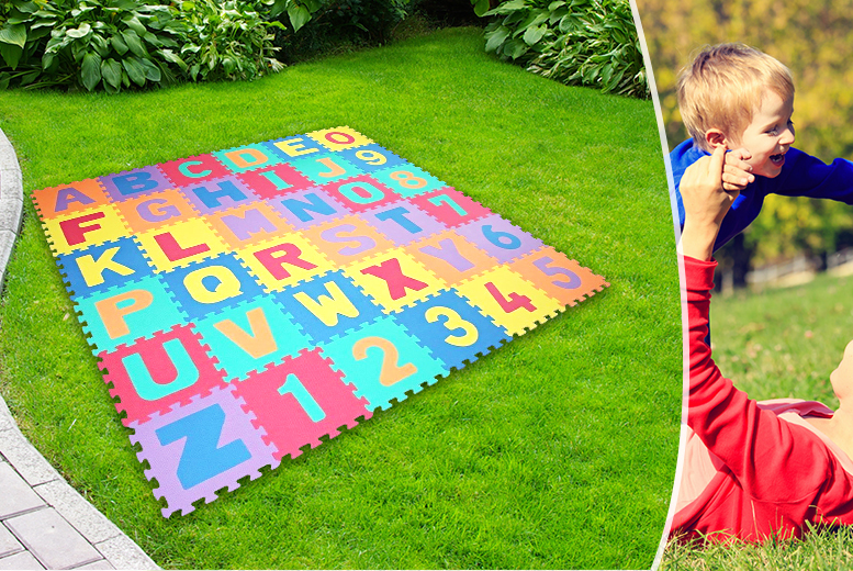 £6.99 instead of £25 for a 36-piece soft foam puzzle play mat - save 72%