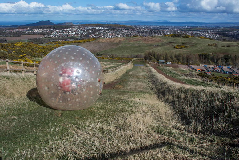 £49 instead of £75 for a zorbing and aqua-zorbing experience for two including a video to take home with Rolling Haggis, Edinburgh - save 48%