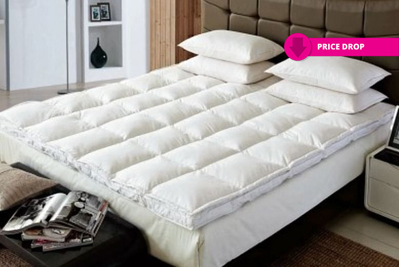 Luxury 'Winter-Warm' Goose Feather and Down Mattress Topper - 4 Sizes!