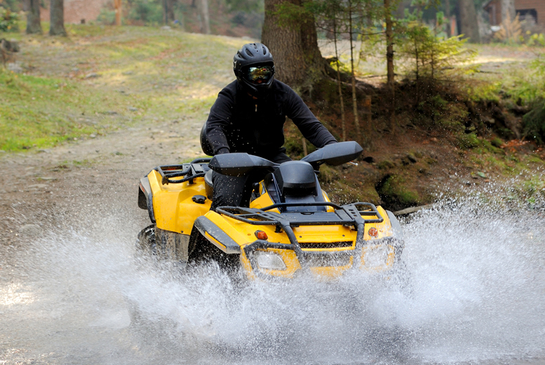 £29 for a quad biking experience for one person, £56 for two people or £95 for four people at Lea Marston Events, Birmingham