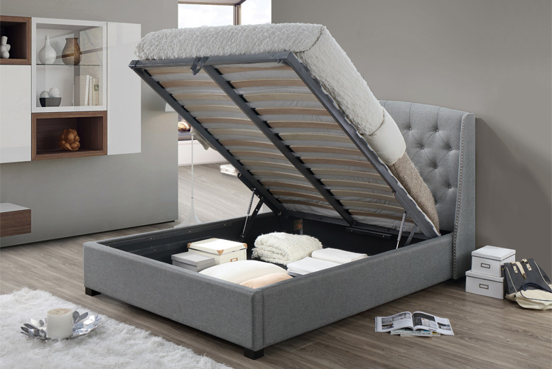 Sareer Signature Fabric Ottoman Storage Bed with Mattress Option