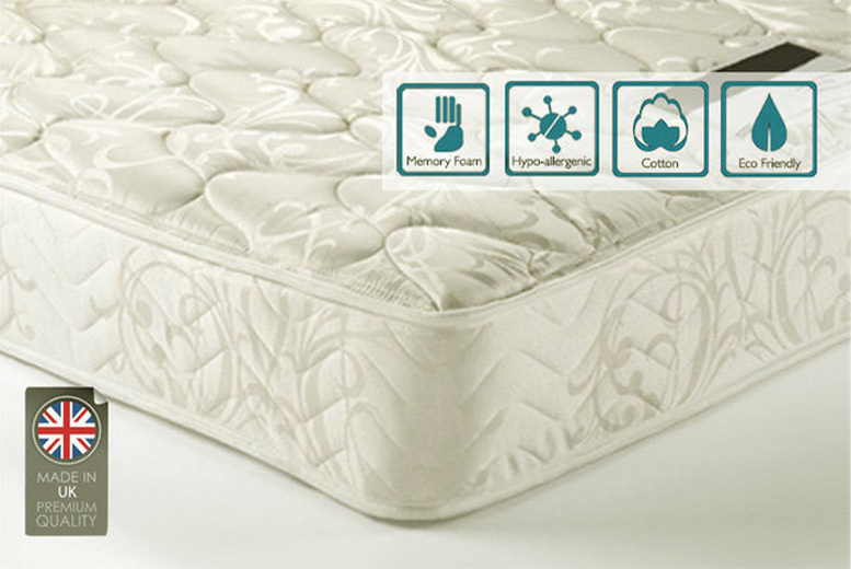 Sleep Easy Cool-touch Memory Sprung Mattress