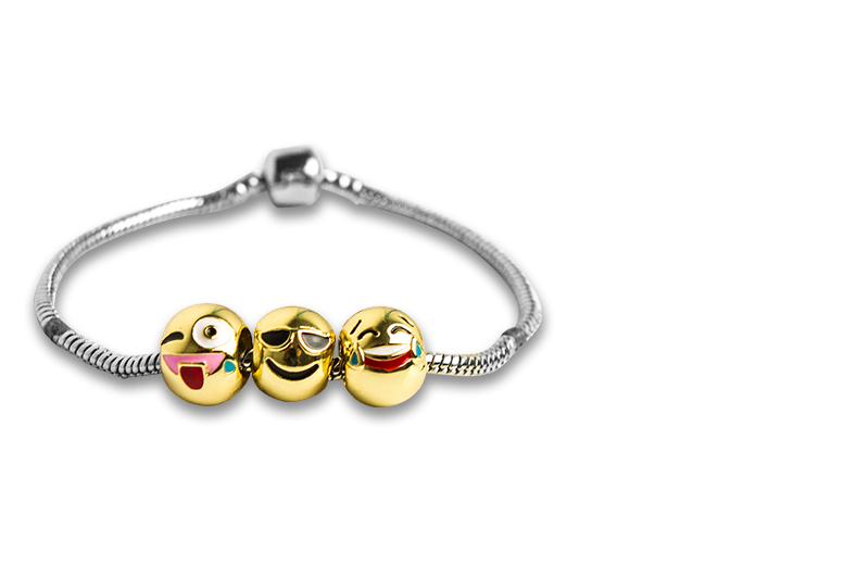 £6 instead of £39 (from My Boutique Store) for a three charm emoji bracelet - get emoting and save 85%