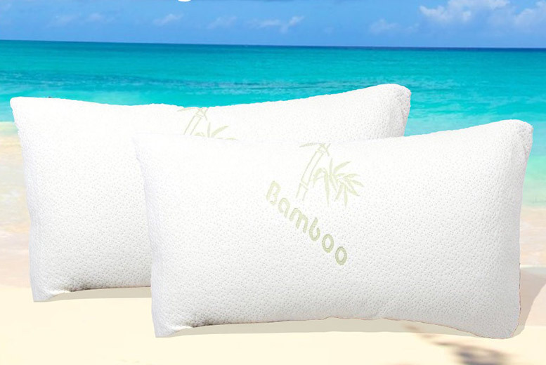 1 or 2 Cooling Bamboo Memory Foam Pillows