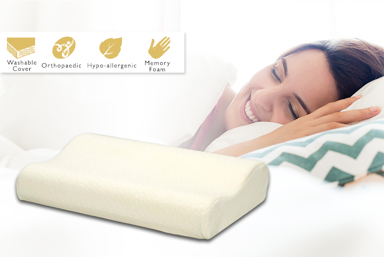 1 or 2 Orthopaedic Memory Foam Pillows