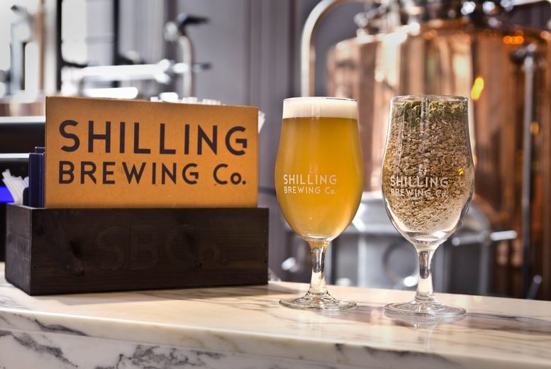 £14 instead of £28.90 for a brewery tour including a welcome pint, beer tasting and a gourmet pizza for one at Shilling Brewing Co, Glasgow city centre - save 52%