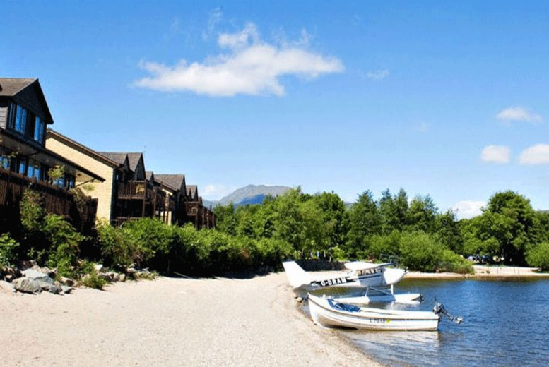 £129 instead of £215.80 for an overnight stay, a two-course dinner and full Scottish breakfast for two at Lodge on Loch Lomond - save 40%