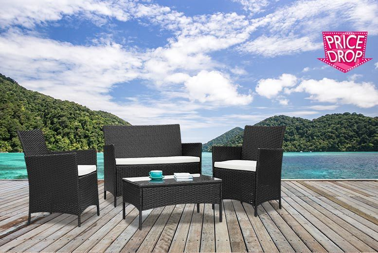 £89 instead of £470 (from Furniture Instore) for a four-piece rattan garden furniture set - choose either black or brown and save 81%