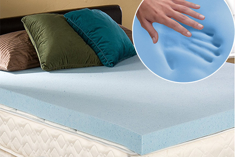 2″ Coolblue Memory Foam Mattress Topper – Optional Washable Cover! from £27.99