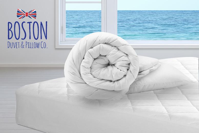 Boston 4.5 Tog Duvet & Pillow Bedding Bundle - 3 Sizes!