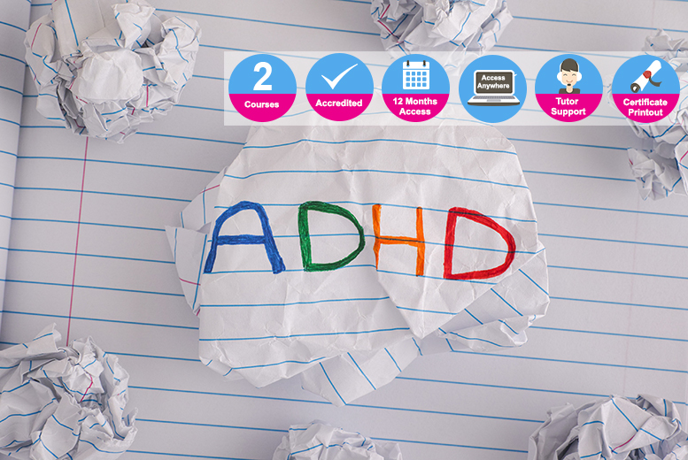 Accredited ADHD & Emotional Behavioural Difficulties Course Bundle for £16.00