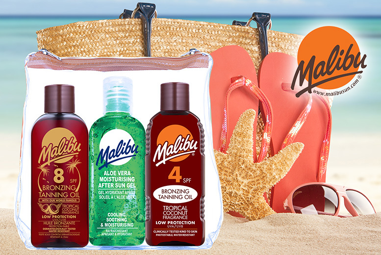 Malibu Sun Fast Tanning Travel Set