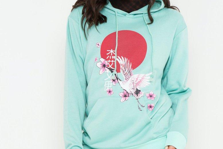 Womens Japanese Sakura Hoodie – 6-16 UK Sizes! for £9.99