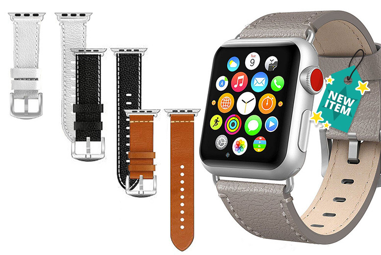 Apple-Compatible Leather Watch Straps - 4 Designs & 2 Sizes!