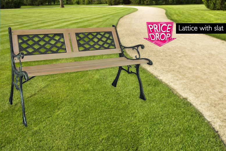 £26 instead of £142.01 (from Vivo Mounts) for a three-seater wooden garden bench - choose from three designs and save 82%