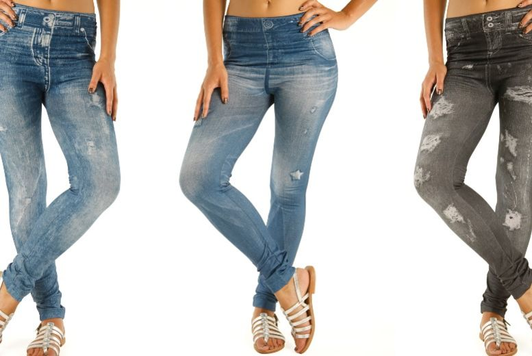 3pk Ripped Look Jeggings – UK Sizes 8-20! for £14.99