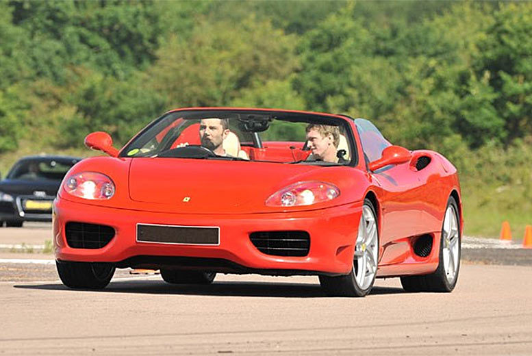 £69 for a Ferrari driving thrill experience with a high speed passenger ride at 20 UK locations from Buyagift