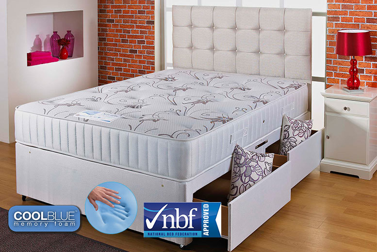 From £189 instead of £1299 (from Cheap Mattresses) for a 3000 pocket sprung and Coolblue memory mattress – save up to 85%