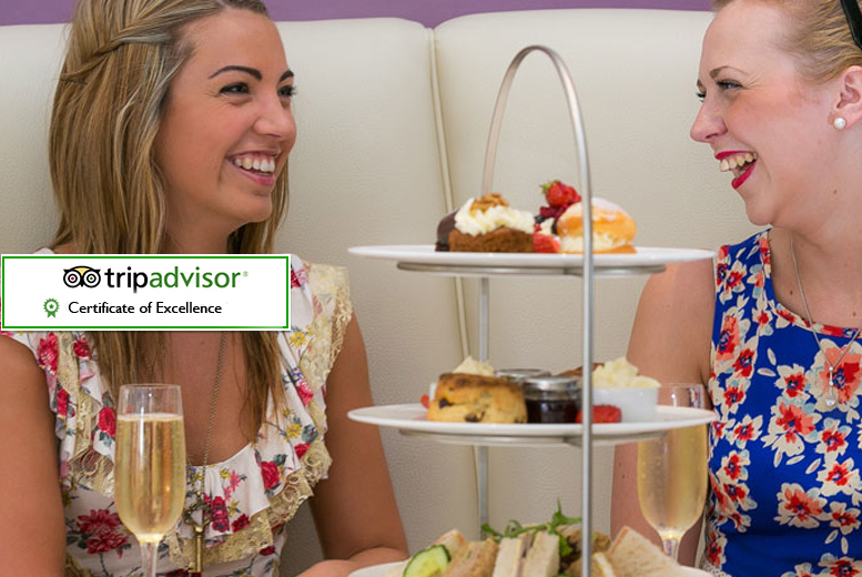 £27 instead of £45.90 for afternoon tea for two people including a glass of Mercier Champagne each at 47 King Street West, Manchester - save a scrumptious 41%