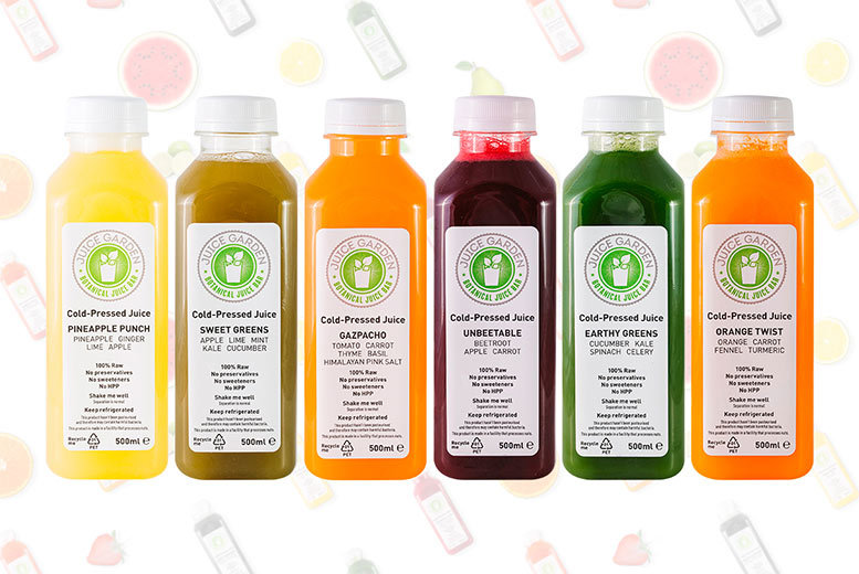 From £15 for a one-day juice cleanse, £39 for three days, or £50 for five days from Juice Garden - choose sweet or original and save up to 32%