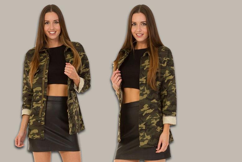 Women's Camo Print Jacket – UK Sizes 8-12! for £17.99