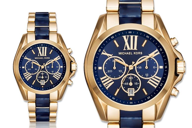 Michael Kors MK6268 Bradshaw Blue Dial Chronograph Watch