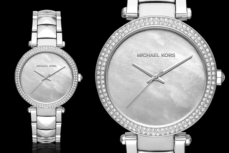 Michael Kors MK6424 Ladies Stainless Steel Mother of Pearl Watch