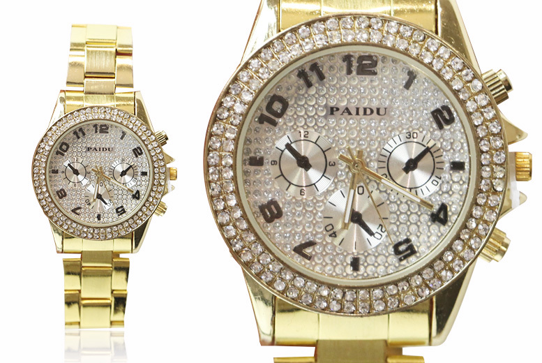Ladies 'Jessica' Watch with Crystal Accent - 2 Designs!