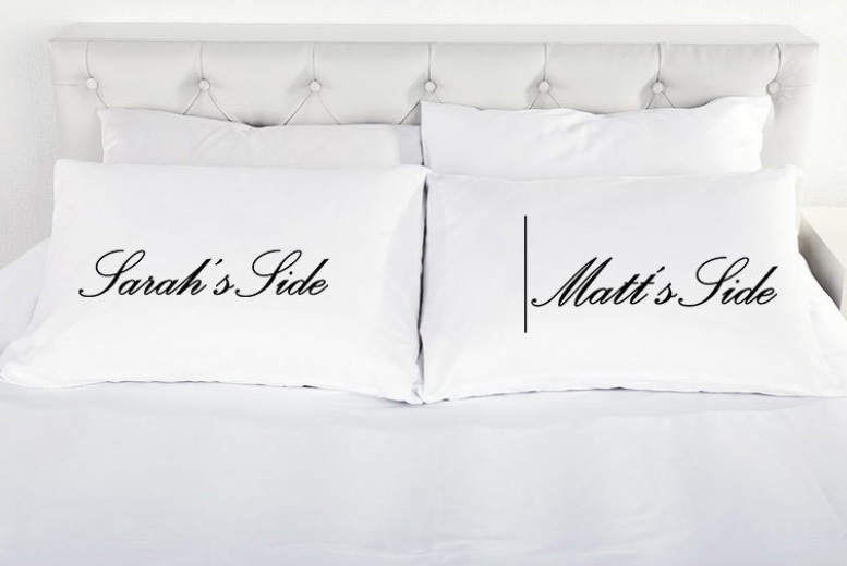 Personalised His & Her Wedding Pillowcases for £7.99