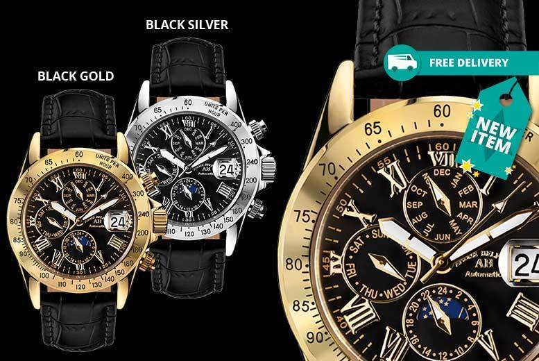 Andre Belfort Le Capitaine Leather Watches - 5 Designs & Delivery Included!
