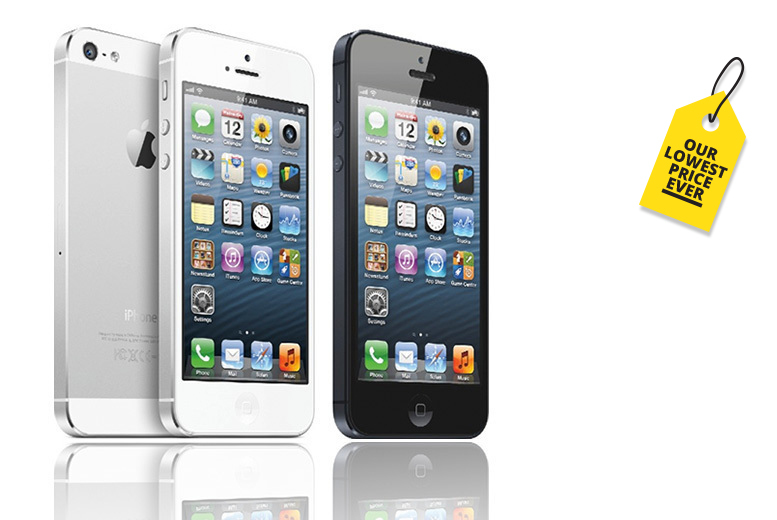 16GB or 32GB Apple iPhone 5 – 2 Colours! from £79.00