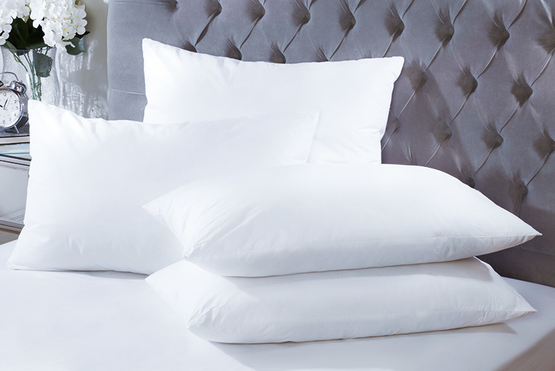 4 Duck Feather & Down Pillows for £18.99