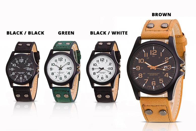 'Justin' Faux Leather Watch - 4 Designs!