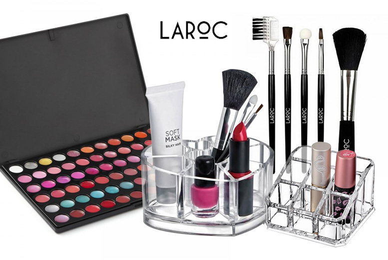4pc Lip Gloss Palette Set w/ 2 Lipstick Holders & Brushes for £12.99