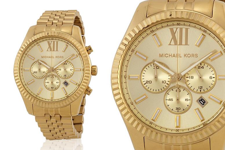Men's Michael Kors MK8281 Gold Lexington Watch