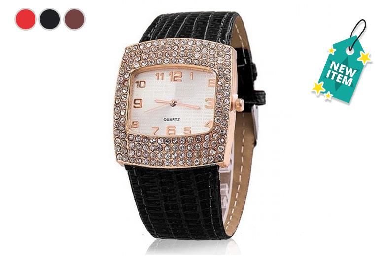 Ladies 'Sophia' Crystal Watch - 3 Designs!