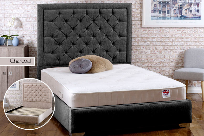 Chelsea Fabric Bed Frame with Mattress