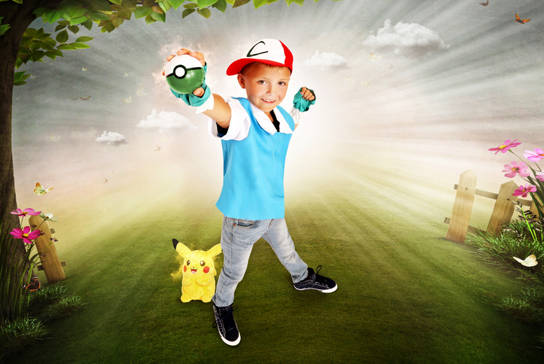 "£9 instead of £185 for a Pokémon-inspired photoshoot, two 7"" x 5"" prints and a goody bag at Picture Perfect by Mario, Margate - save 95%"