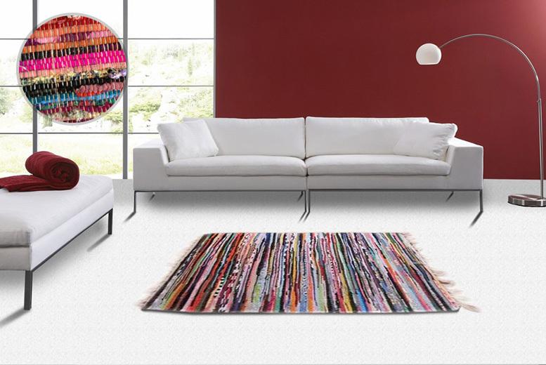 Multi-Coloured Cotton 'Chindi' Rug - 7 Sizes!