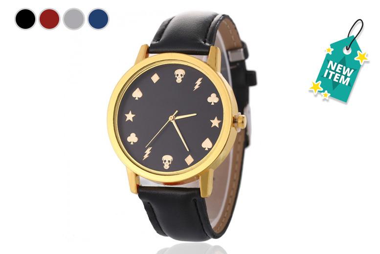 Faux Leather Reuben Watch - 4 Designs!