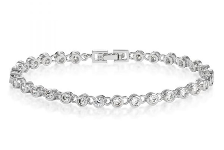 Tennis Bracelet made with Crystals From Swarovski