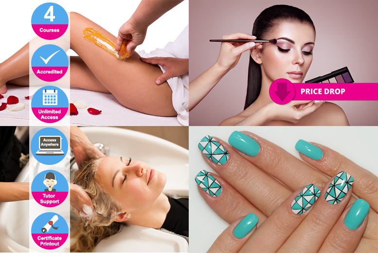 Online Accredited Beauty Tech Diploma  4 Courses!