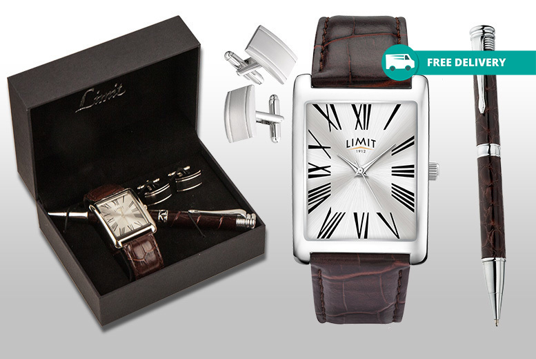Men's Limit Watch, Pen & Cufflink Set